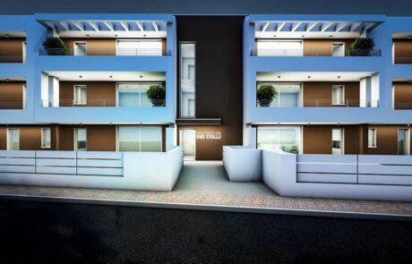 Residenze dei Colli Vista Fronte Notturna Strada Immobiliare Montecristo