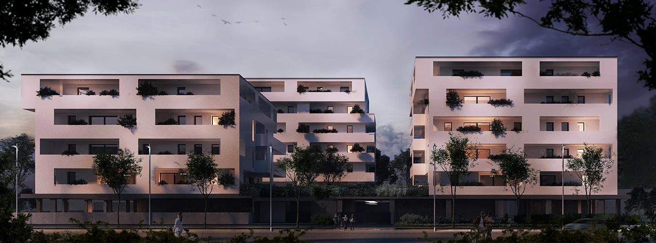 Residenze Pacinotti 2.0 Immobiliare Montecristo Vista notturna